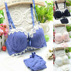 New Lace Push-Up Padded Underwire Bras Soft Bra Sets 32 34 36(AB) #8893
