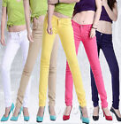 11 Color Women Stretch Candy Pencil Pants Casual Slim Fit Skinny Jeans Trousers