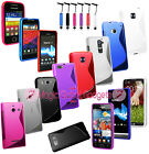 Fitted S Line Grip Soft Protective Gel Rubber Skin Case Cover For Mobile Phones