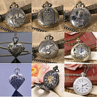 Vintage Bronze Quartz Pocket Watch Steampunk Antique Style-Premium UK-All Colors