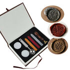Classic A-Z Vintage Alphabet Initial Letter Badge Wax Seal Stamp w/Wax Kit Set