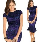 Womens Celebrity Cocktail Party Evening Bodycon Fitted Mermaid Pencil Dress 988