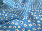 Retro  Small Blue Floral  Fabric  **Per Meter/FQ**