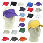 Visor Sun Hat Sports Cap Plain Blank Golf Tennis Beach New Adjustable Men Women