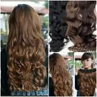 High Quality Womens Full Head Clip Curly/Wavy Synthetic Hair Extension 3 Colors