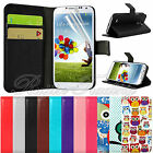 stand Wallet Leather  w/ card solt case Cover for Samsung Galaxy S4 Mini i9190