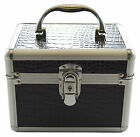 Beauty Vanity Cosmetic Case Make up Jewellery Hair Nail Box Mock Croc Storage