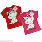 Official Hello Kitty Girls T-shirt with print 3 4 5 6 Years 100% Cotton