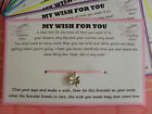 MY WISH FOR YOU Friendship Wish String Bracelet Gift STOCKING PARTY BAG FILLER