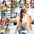 30 Style Women Chiffon Batwing Sleeve T Shirt Bohemian Beach Cover Up Top Blouse