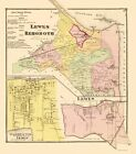 Old City Map - Lewes, Rehoboth Delaware Landowner - Beers 1868 - 23 x 26.23