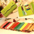 Womens Ladies Faux Leather Bifold Card Holder Clutch Bag Wallet Purse Small Gift