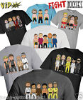 VIPwees Mens T-Shirt Fight Movie Inspired Caricatures Choose Your Design