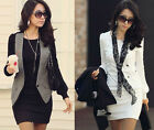 New Design Women Sexy Round Crew Neck Long Sleeve Casual Mini Dress S,M,L,XL