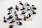 20pcs Charms Lampwork Crystal Teardrop Spacer Pendant Loose Jewelry Beads 6x12mm