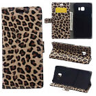 Leopard Print PU Leather Wallet Flip Slots Stand Cover Skin Case For Huawei