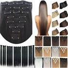 UK Seller 8 pcs 100% full head Clip in on synthetic hair extensions human made