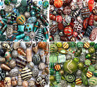 150g Luxury mixed lot of Glass Tibetan Wood Jewellery Making Beads