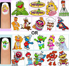 60x The Muppets OR Muppet Babies Nail Art Decals + Free Gems