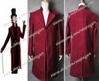 Charlie and the Chocolate Factory Cosplay Johnny Depp Willy Wonka Costume Coat