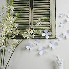 3D Flowers Wall Sticker Decal Home Interior Decoration Pure White