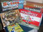 FAMILY BOARD & PARTY GAMES -1953-2003 Monopoly,Go For Broke,Mystery see the menu