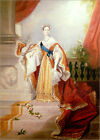 Poster / Leinwandbild Portrait of Queen Victoria in Coronation Robes - A. Chalon