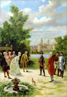 Poster / Leinwandbild Frederick the Great at Rheinsberg Castle - Fedor Poppe