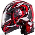 The Viper (Red) IV2 Modular Dual Visor Motorcycle/Snowmobile Flip Up Helmet DOT