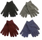 Ladies Wool Mix Magic Stretch Gloves ~ Black, Blue, Grey or Red.