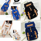 2014 New Cute Women Vintage Canvas Satchel Backpack Rucksack Shoulder School Bag
