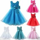 Baby Girls Flower Party Formal Christening Wedding Bridesmaid Party Dress Size