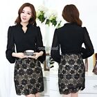 Women Sexy Long Sleeve Evening Party Cocktail Ball Lace Mini Dress Clubwear WST