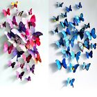 12PCS 3D DIY Removable Vivid Art Vinyl Wall Stickers Decal Mural Home Room Decor