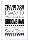 PERSONALISED BEST MAN THANK YOU CARD USHER PAGE BOY WEDDING DAY MULTI HEARTS