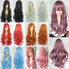 Fashion Anime Wig Curly Wave Long Hair Full Wigs Cosplay Costume Wig Cap Gift