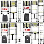 Folding Step Climb Aluminum Telescopic Style Ladder Extension 2.9M / 3.2M / 3.8M