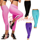 Women Candy Colors High Waist Fitness Yoga Gym Stretch Pants Cropped Leggings