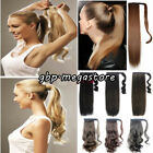 UK* Clip In Ponytail Pony Tail Hairpiece hair extensions Long Wavy Curly straigh