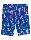 GYMBOREE STRIPES & ANCHOR BLUE w/ ANCHORS BIKE SHORTS 4 5 6 7 8 10 NWT