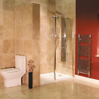 1850x800mm Walk In Shower Panel Wet Room 8mm Return Screen With Shower Tray