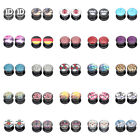 """25 Hot Styles"" 10mm 00g Image Acrylic Screw Fit Flesh Tunnels Black Ear Plugs"