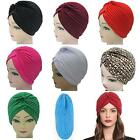 Unisex Indian Style Stretchable Turban Hat Hair Head Wrap Cap 12 Different Color