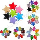 Wholesale Mixed Star & Flower & Drop & Heart Acrylic Pendants Spacer Loose Beads