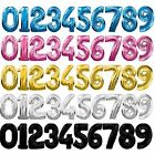 "Larg 30"" Foil Number Balloons Helium 1st 2nd 18th 21st 30th 40th 50th Birthday"