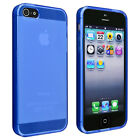 BasAcc Frost Clear Dark Blue TPU Case for Apple iPhone 5 Brand New!