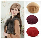 NEW Fashion Wool Warm Women Felt French Flower Beret Beanie Hat Cap Tam Hats