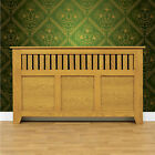 vermont honey oak finish new england style radiator cover / cabinet