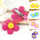 Pair Baby Kids Girl Children Sunflower Hair Alligator Clips Hairpin Candy Colors