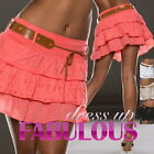 SEXY WOMENS MINI SKIRT PARTY CASUAL CLUBBING WEAR SUMMER CLOTHES Size 2 4 6 8 10